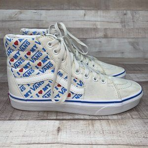 Vans High Top Old Skool Logo Athletic Shoe 8.5